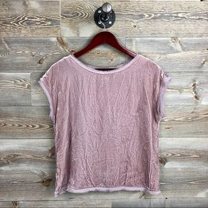 Boden Crushed Velvet Silk Top